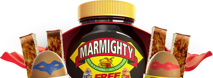 Free Mighty Marmite eggcups with every 250g jar! Give your breakfast some OOMPH!