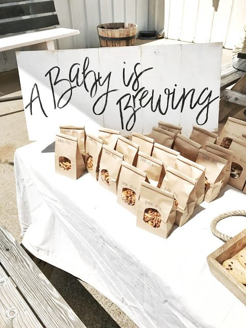 Gender Neutral Baby Boy Girl Shower Sprinkle - Baby is Brewing - Brewery Shower - Beer Theme - Black White - Baby Shower Sign - Party Ideas - Snacks Munchies Trail Mix Favor Bags - Favor Table