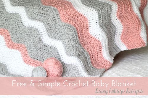 Free Crochet Blanket Pattern by Daisy Cottage Designs,