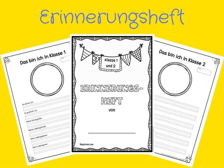 Sonniges Klassenzimmer: Erinnerungsheft für Klasse 1/2 und 3/4