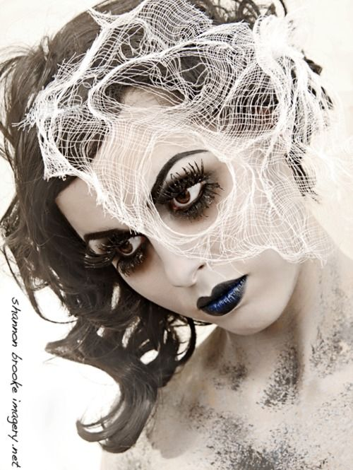 Halloween idea..Ghost Makeup: Pretty Zombies Makeup, Ghosts Makeup, Ghosts Costumes, Halloween Costumes, Bride Makeup, Halloween Makeup, Zombies Bride, Makeup Ideas, Costumes Ideas