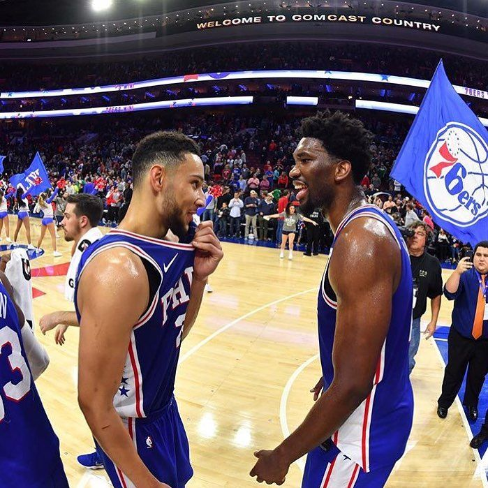 The Philadelphia 76ers are .500 for the first time in 4 Years... Ben Simmons & Joel Embiid = The Future of the Eastern Conference??? #Sixers#Bulls#Bucks #Hawks#Celtics#Cavaliers #Nets#Mavericks #Hornets#Nuggets#Pistons #Warriors#Rockets#Pacers #Lakers#Timberwolves #Magic#Pelicans#Knicks #Clippers #Grizzlies#Heat #Thunder#TrailBlazers#Spurs #Suns#Kings#Jazz#Raptors #Wizards
