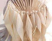 Wedding ribbon wands by BellaBrideCreations on Etsy