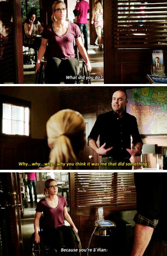"""#Arrow 4x14 """"Code of Silence"""" - """"Why you think it was me that did something?"""" - #QuentinLance and #FelicitySmoak"""