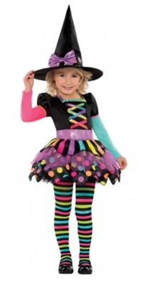 Cadı Kostümü Süslü 4-6 Yaş Cadılar Bayramı / Halloween Kostümleri:  Kostümlü Parti, Kıyafet Balosu, Korku Temalı Partiler için ideal kostüm.