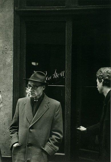 William S. Burroughs outside the Beat Hotel, Paris