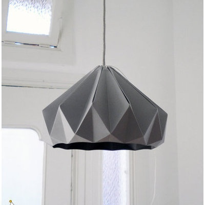 Grey Paper Origami Lampshade