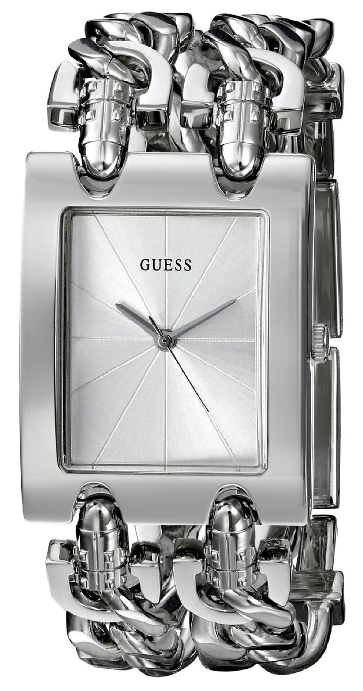 GUESS Women's G75916L Brilliance on Links Silver-Tone Watch with Link Bracelets -- You can find more details by visiting the image link.