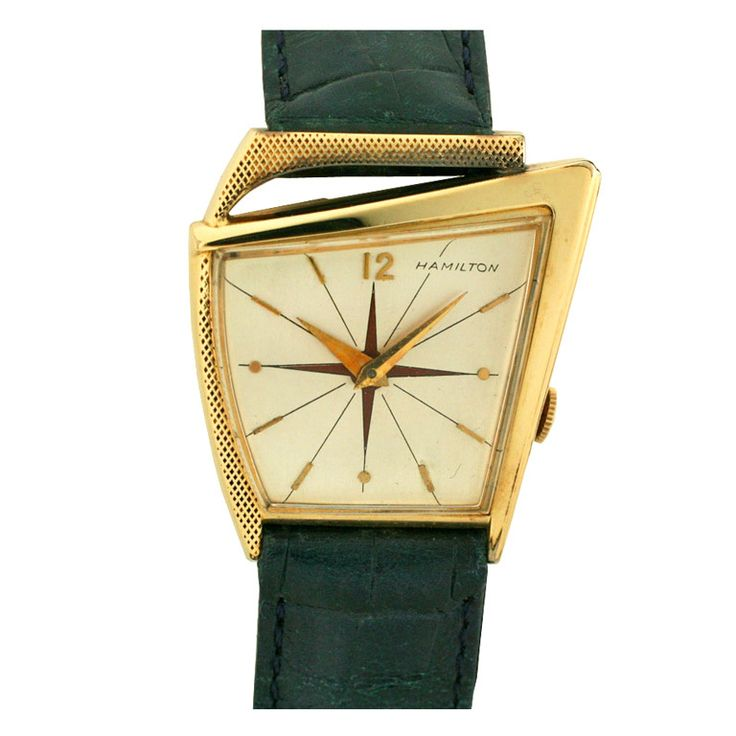 Hamilton Watch Co. / Flight I Rare in Solid Gold / c1960s