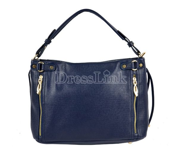 Fashion Women Girl Synthetic Leather Zipper Pack Bag Leisure Handbag Tote Bag by dresslinkbags