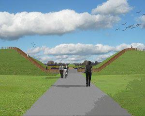 Design by Vollmer & Partners for a natural burial site in Zeeland (the Netherlands). Ontwerp voor een natuurbegraafplaats in Zeeland.