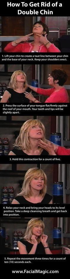 How To Get Rid of a Double Chin Doing Facial… | bingoa