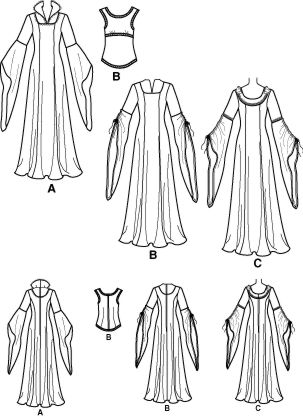 Lord Of The Rings Arwen Dress Simplicity Pattern 4940
