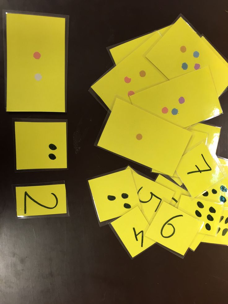 confetti tellen getalbeeld/cijfer