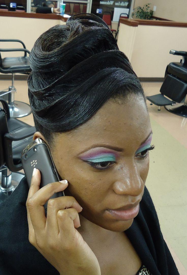 black hairstyles updo
