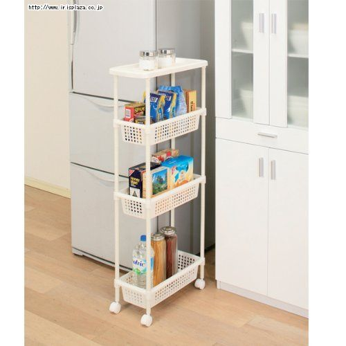Laundry Cart Kitchen Cart For Narrow Space Mkw 4s By Iris Ohyama Inc