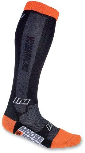 Parts Unlimited M1 Youth Sock Black/Orange Size 2-7 XF3431-0142 by Parts Unlimited.. Designed for ultra comfort and durability specifically for smaller feetTall over the calf designReinforced elastic foot and calf helps eliminate bunching