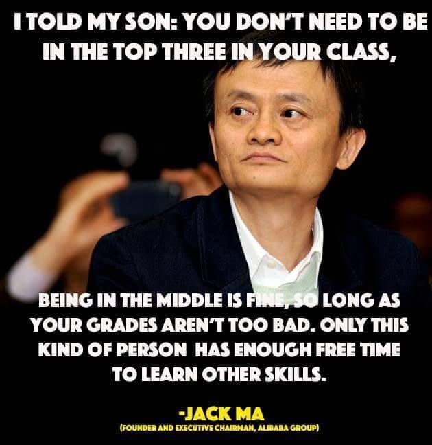 Image result for jack ma parenting quotes