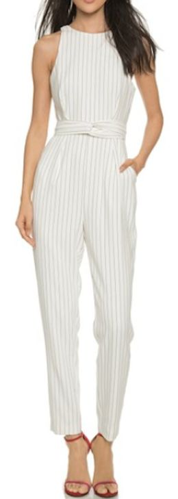 such a cute pinstripe jumpsuit