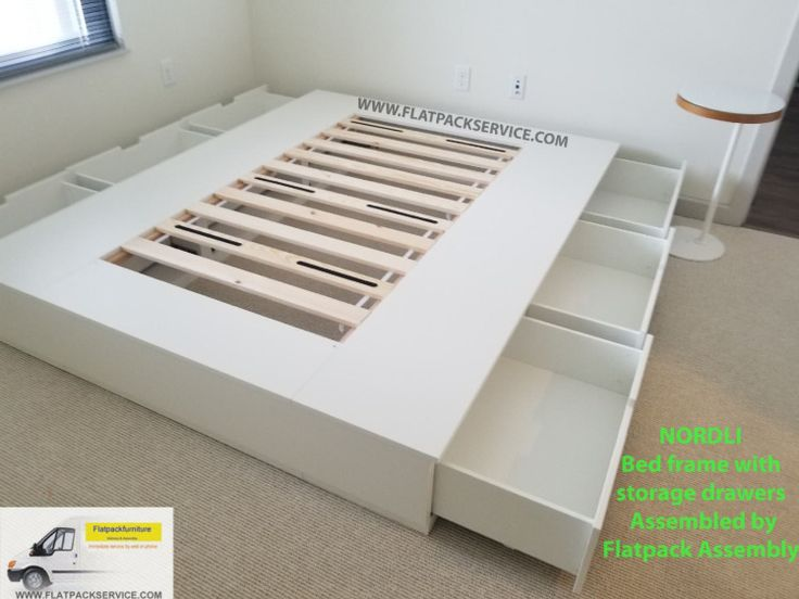 Ikea Nordli Storage Bed Assembly In, Ikea Bed Frame With Storage Instructions