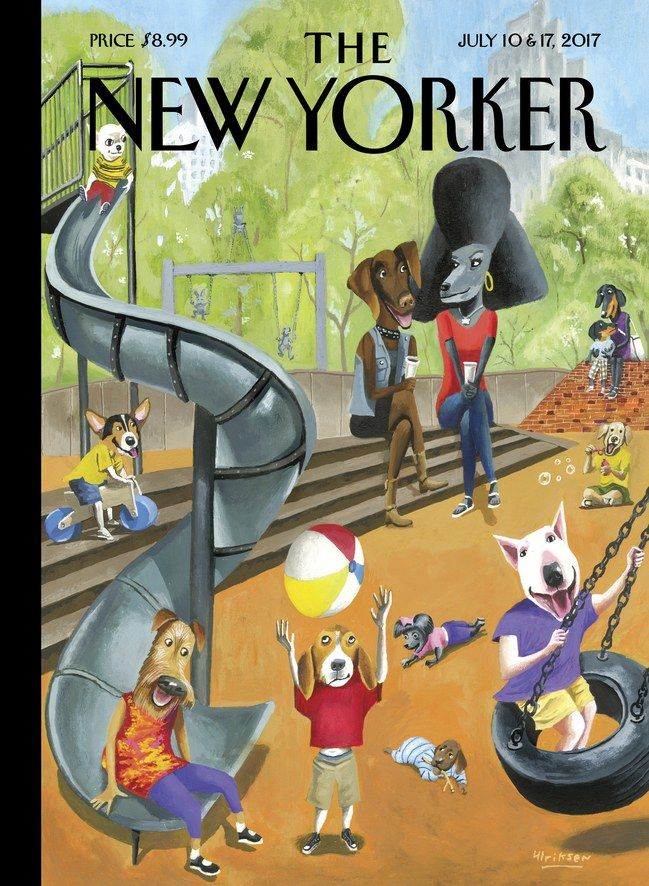 """The New Yorker - Monday, July 10, 2017 - Issue # 4694 - Vol. 93 - N° 20 - Cover """"Off the Leach"""" by Mark Ulriksen"""