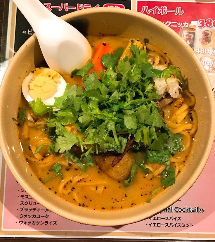 スープカリー角煮ラーメン パクチーダブル乗せ@イエロースパイス  #カレーラーメン #イエロースパイス #パクチー #スープカレー #ramen #ラーメン #らーめん #銀座 #麺スタグラム #food #tokyo