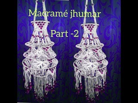How To Make Designer Jhumar Macrame At Home Beautiful