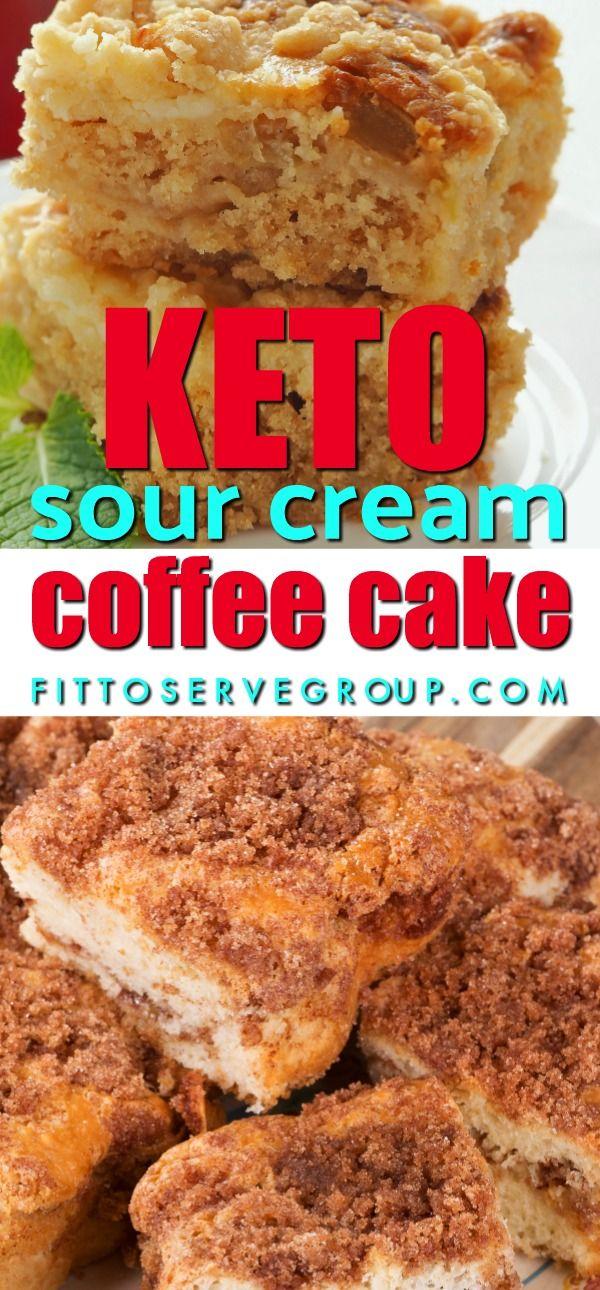 Keto Sour Cream Coffee Cake Sour Cream Coffee Cake Keto Dessert Recipes Low Carb Keto Recipes