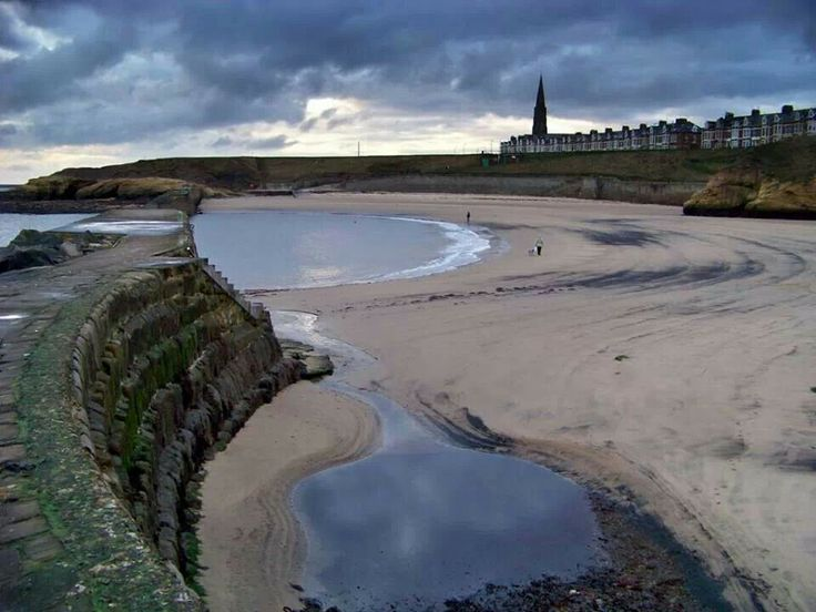 Cullercoats bay tyne and wear uk. Just after dawn