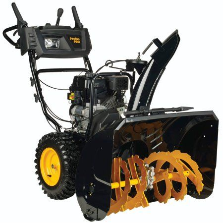 Poulan Pro 30 Inch 254cc Two Stage Snow Thrower With Power Steering Heated Handles Electric Start And Headlight Gas Snow Blower Snow Snow Removal Equipment