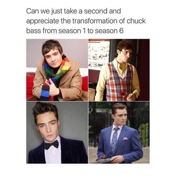 One of the best transformations ever Chuck Bass