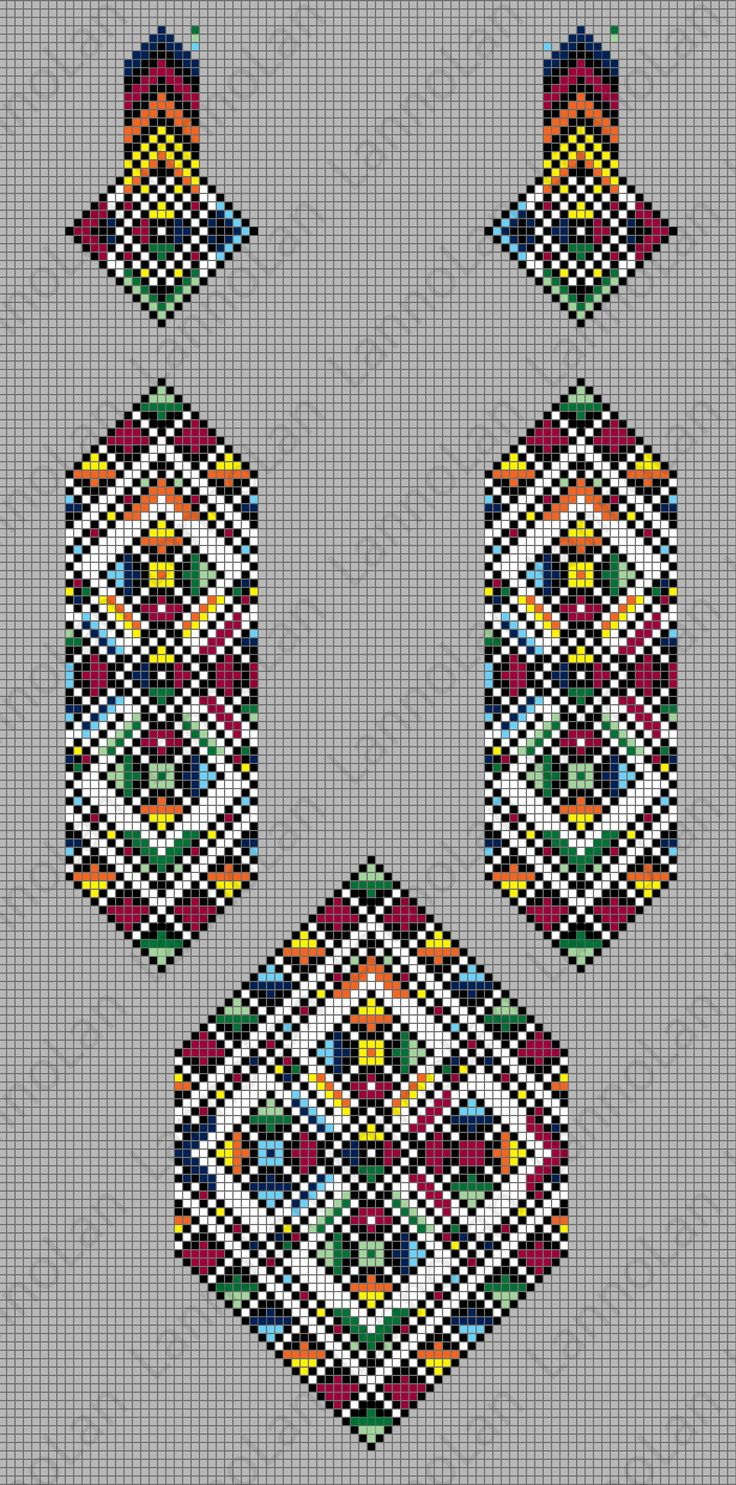 UA pattern - loom - beads ... inspired by: http://skrynya.ua/etno-stil/etno-gerdany/p656625