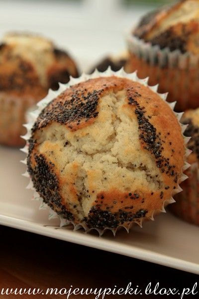 Moje Wypieki   Muffiny cytrynowe z makiem
