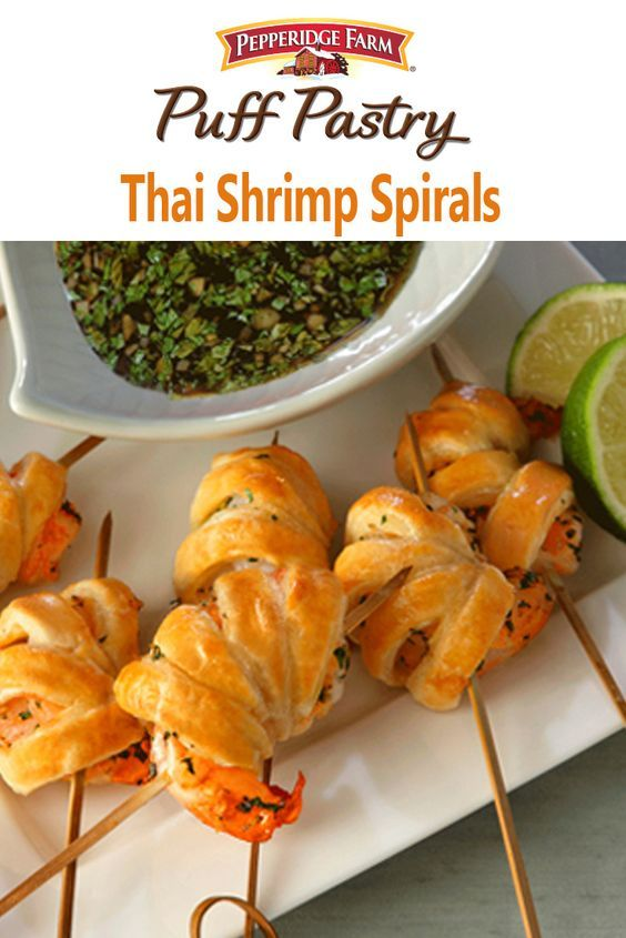 Thai Shrimp Spirals Recipe. These amazing appetizers feature shrimp ...