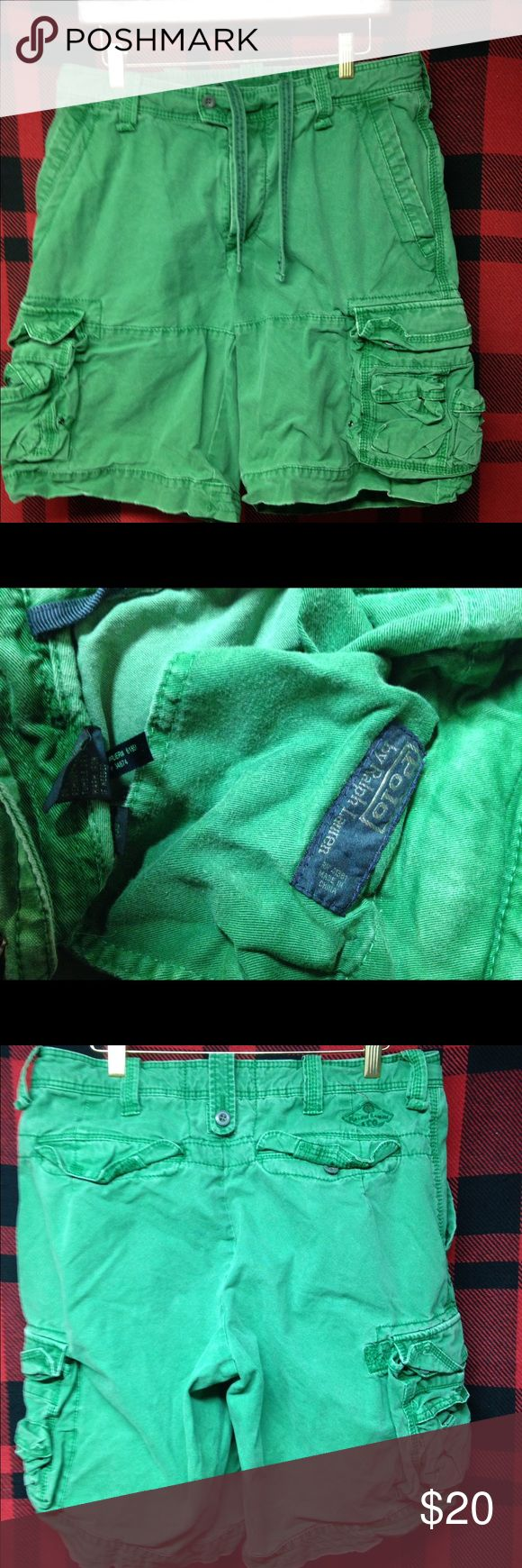 Ralph Lauren polo sz 33 green cargo shorts Nice used condition Ralph Lauren polo green military cargo shorts sz 33 these are real nice sun faded and frayed ones hard to find 20 obo Polo by Ralph Lauren Shorts Cargo