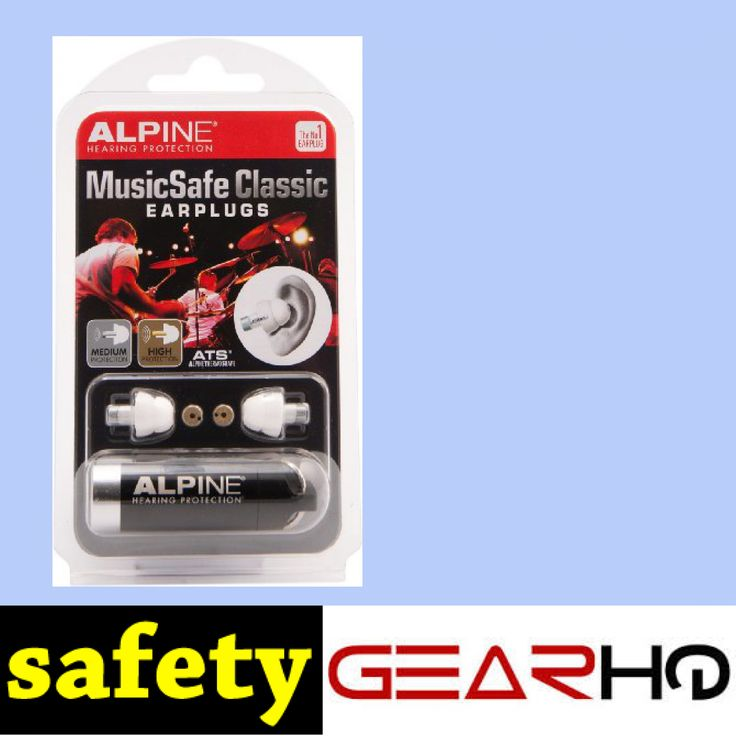 Alpine Hearing Protection MusicSafe Classic Earplugs for Musicians http://www.safetygearhq.com/product/personal-safety/ear-protection/alpine-hearing-protection-musicsafe-classic-earplugs-for-musicians/