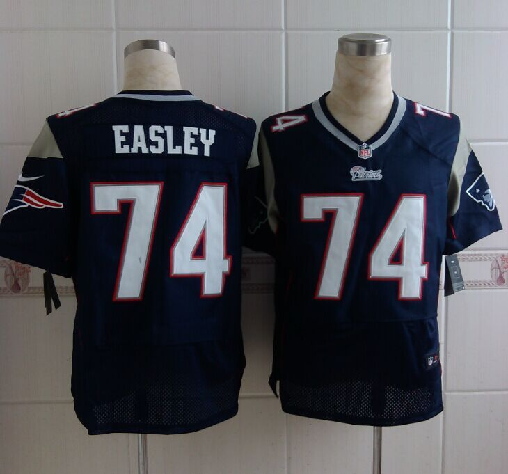 ab746f68a game dominique easley mens jersey new england patriots 74 home navy ...