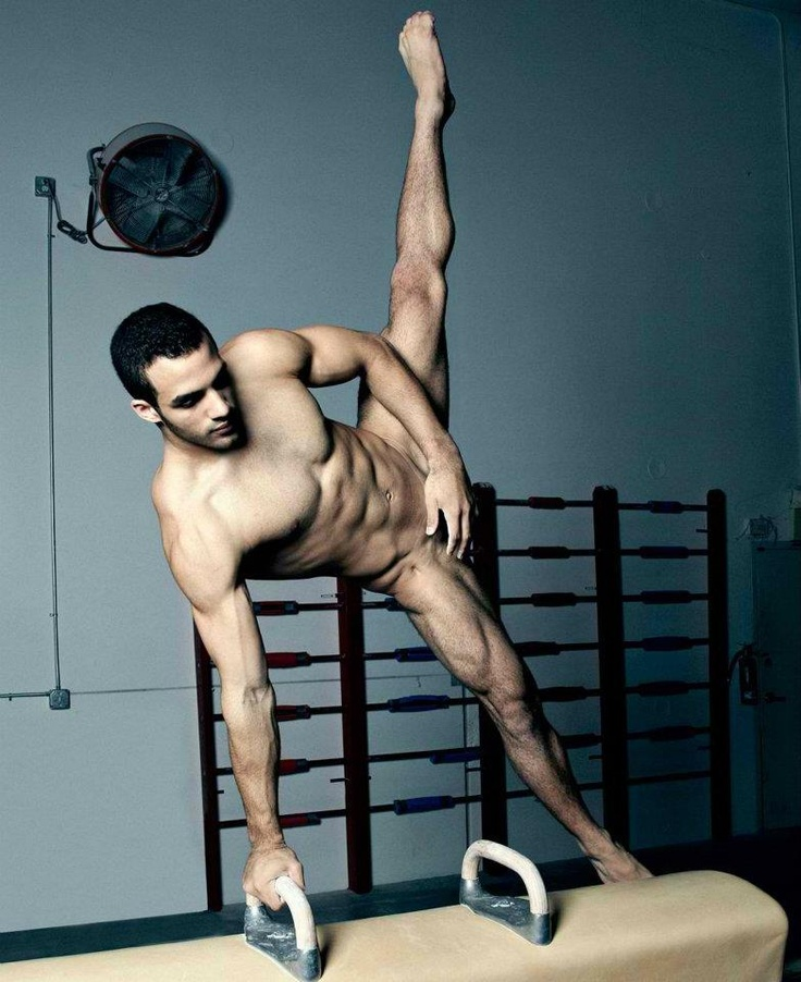 Danell Leyva, USA Olympic gymnast, gets into a stylish pose. The guy is definitely not shy