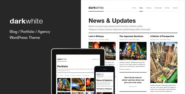 Darkwhite: Blog / Portfolio WordPress Theme