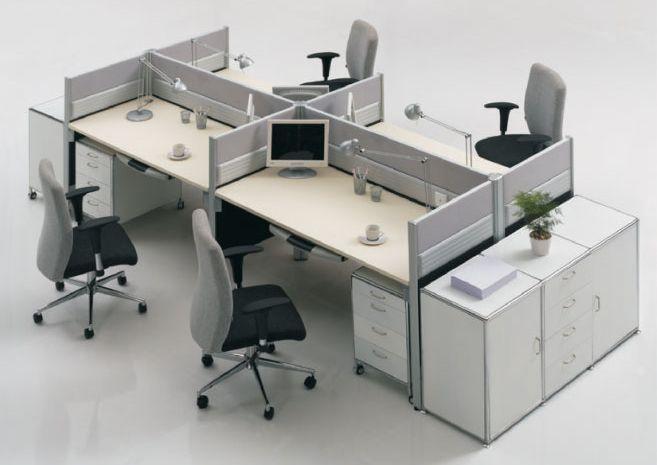 4 Estaciones de Trabajo - Almacenamiento Extra