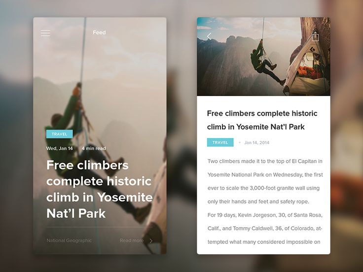 I had this idea for a simple mobile news app that pulls the top stories from the web and filters it into these cards that you can swipe through. Check out the real pixels.
