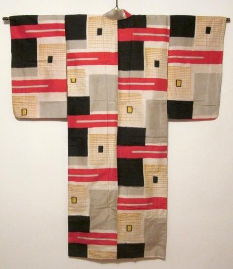 Bauhaus-like kimono. Japanese