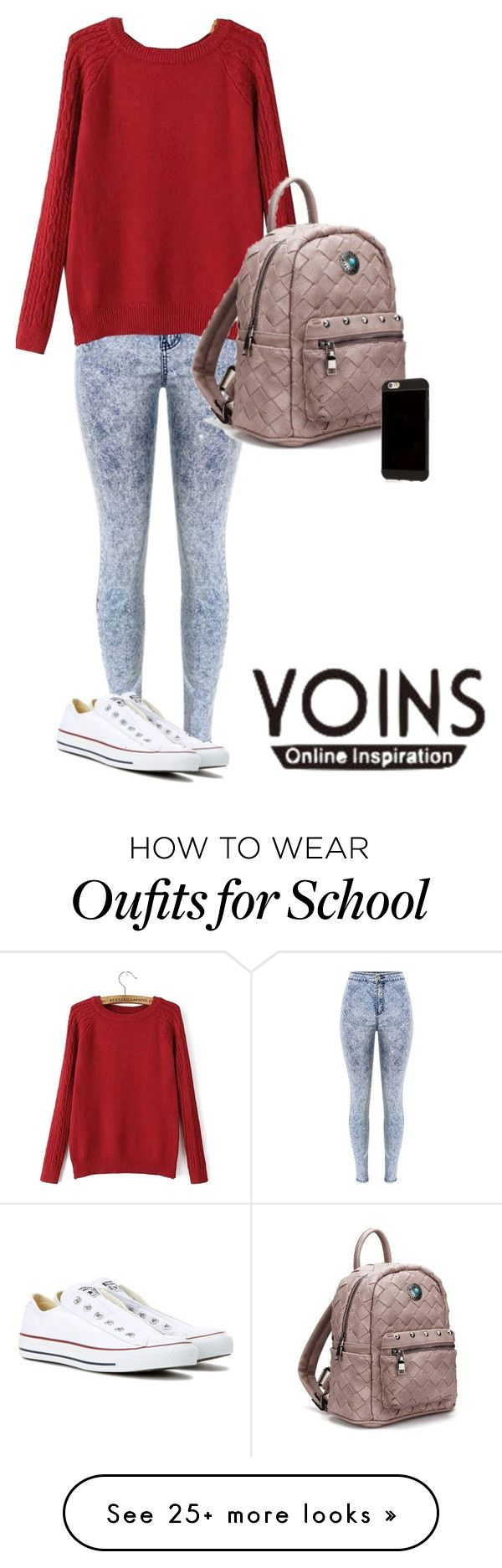 """""""School"""" by samaramahone1d on Polyvore featuring Converse"""