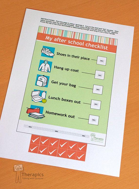 My after school checklist - digital download