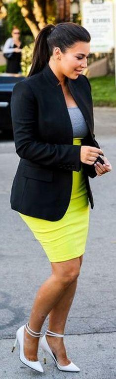 Kim Kardashian: Shoes – Tom Ford    Dress – Kardashian Kollection