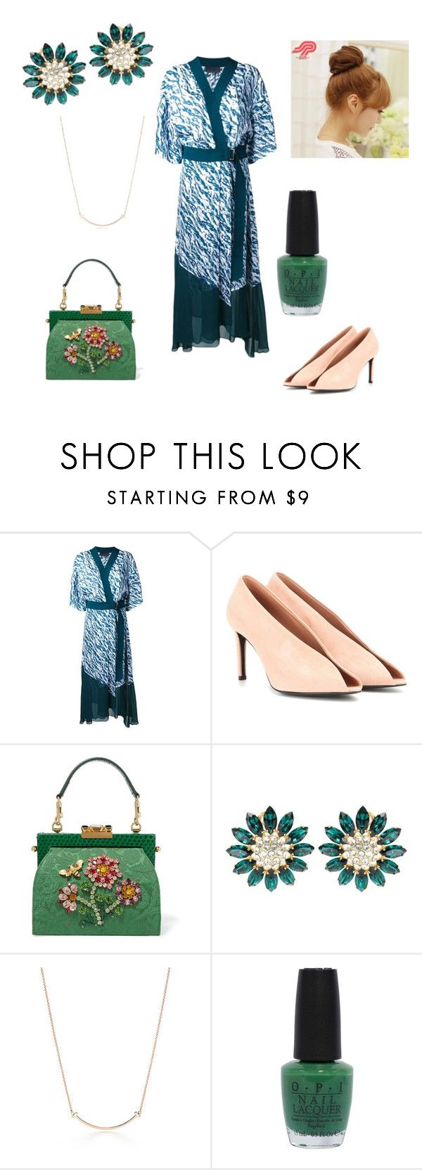 """10-9-2016"" by antiadamo on Polyvore featuring Ginger & Smart, Balenciaga, Dolce&Gabbana, Miu Miu, Tiffany & Co., OPI and Pin Show"