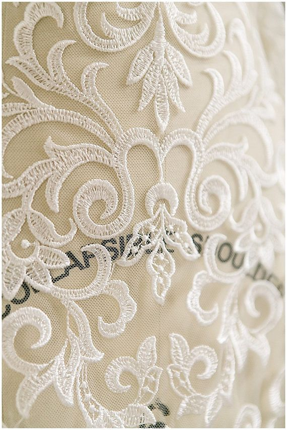 Heavy embroidered Ornament Flower Bridal Lace wedding dress