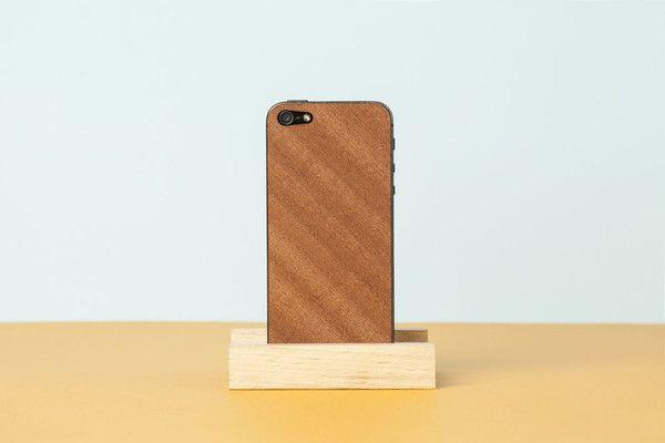 Wood'd Skin iPhone  - Mahagony