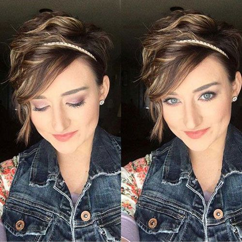 7+ woman short pixie cuts for round faces