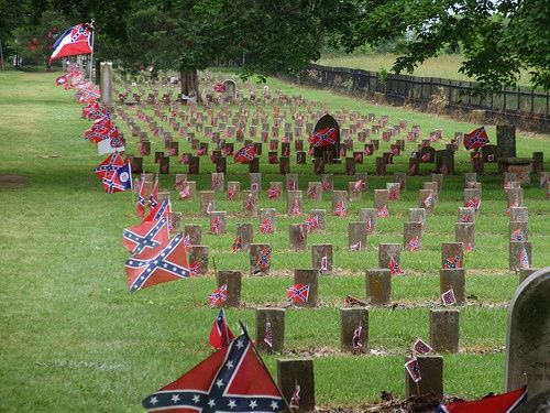Confederate cemetery at Carnton Plantation - soldiers were buried and reburied…